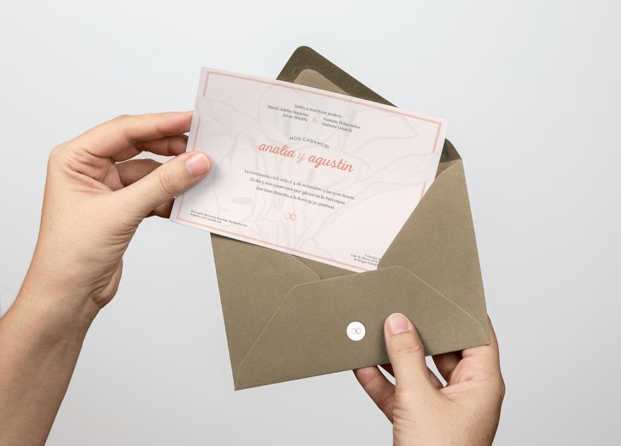 tarjeta con sobre